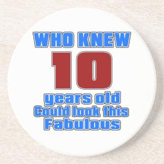 10 designs do aniversário porta copos de arenito