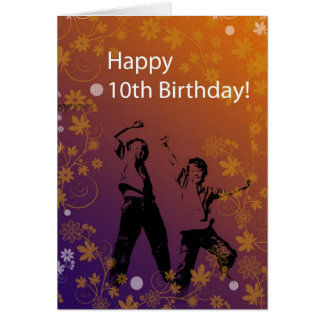 10o Aniversário para meninos Cartão Comemorativo