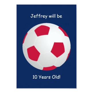 10o Bola de futebol do convite de aniversário