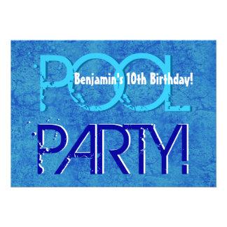 10o Branco azul V10 da festa na piscina do miúdo d