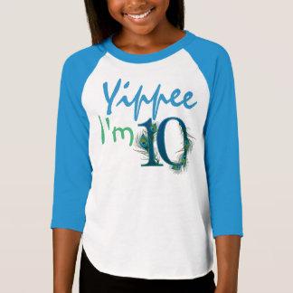 10o Camisas do aniversário