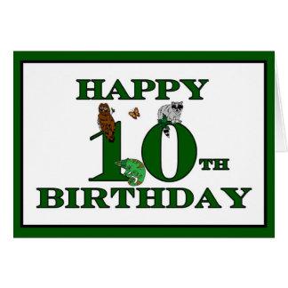 10o cartão feliz do aniversário