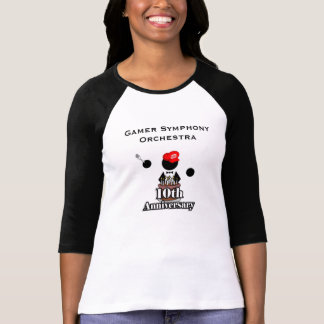 10o De camisa da luva das mulheres do logotipo do