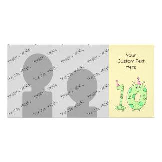 10o Desenhos animados da festa de aniversário - ve Cartão Com Foto