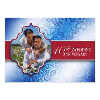 10o foto do aniversário de casamento convite 12.7 x 17.78cm