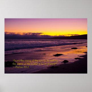 113:3 dos salmos pôsteres