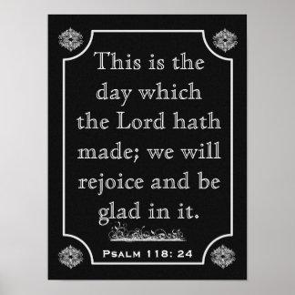 118:24 dos salmos --- Impressão da arte