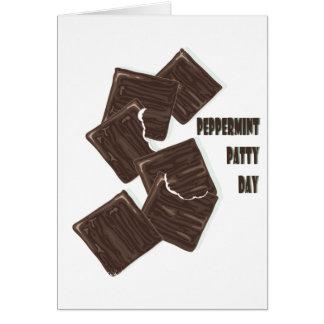 11 de fevereiro - dia do rissol de Peppermint Cartão Comemorativo