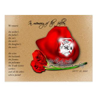 11 de setembro 9/11 de cartão memorável cartão postal