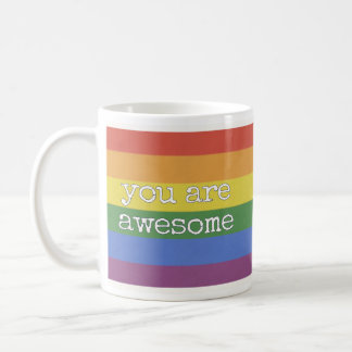 11 onças você é arco-íris impressionante da caneca