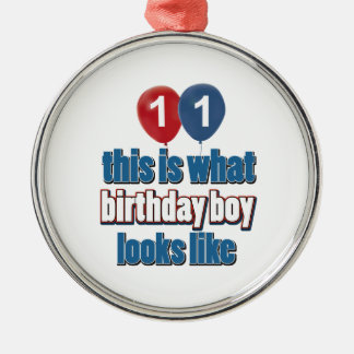 11o design do aniversário do ano ornamentos