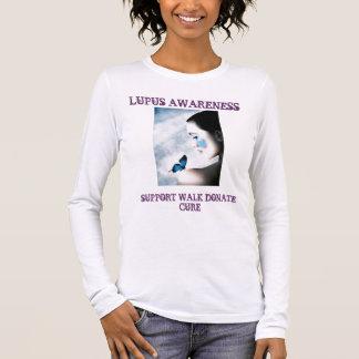 1209404139_00m, CONSCIÊNCIA do LÚPUS, CAMINHADA D Camiseta Manga Longa