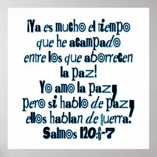 120:6 do salmo - 7 poster
