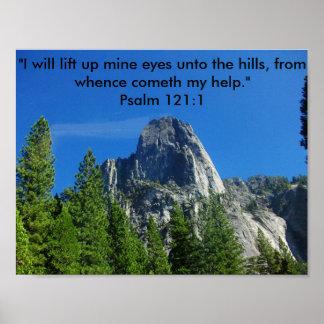 121:1 do salmo pôster