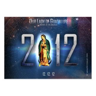 12.12.12 Comemorando nossa senhora de Guadalupe Cartão De Visita Grande