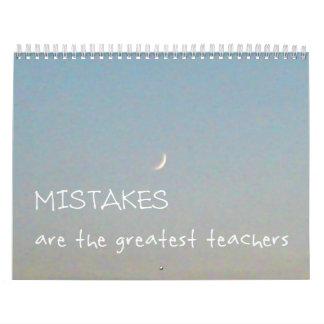 12 calendário inspirado dos erros 2017