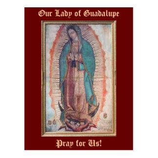 12 de dezembro   nossa senhora de Guadalupe Cartão Postal