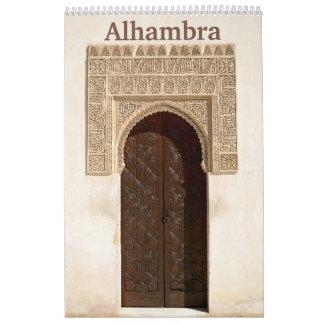 12 meses Alhambra & calendário de parede de