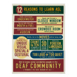 12 razões aprender o ASL. cartaz Poster