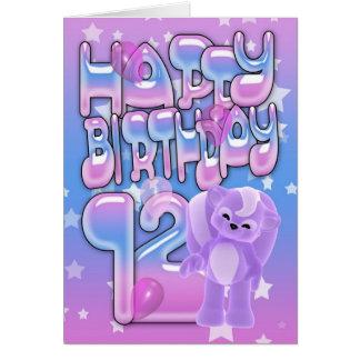 12o Cartão de aniversário, feliz aniversario
