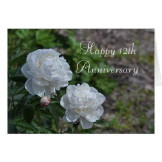 12o Cartão do aniversário