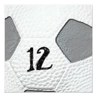 12o Convites temáticos do futebol do aniversário