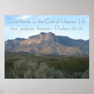 136:26 dos salmos do poster do verso da bíblia