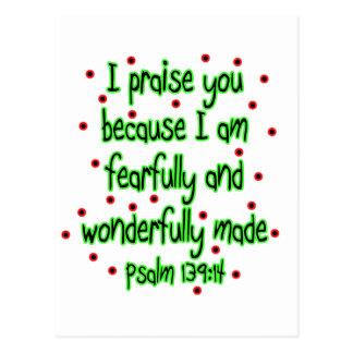139:14 do salmo cartão postal