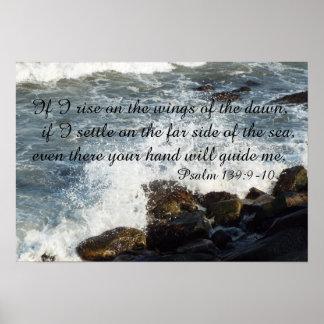 139:9 do salmo das citações da bíblia - poster 10 pôster