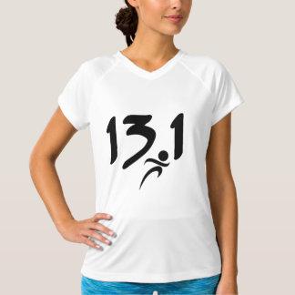 13,1 Camisa da maratona do Seco-Ajustado das