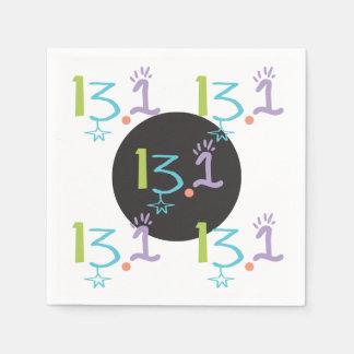 13,1 guardanapo de papel eclécticos do meio tema