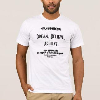 13,1 milhas, sonho, acreditam, conseguem, 4o camiseta