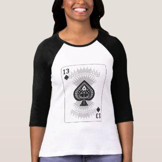 13 das pás: Cartão de jogo: Póquer Black Jack Tshirts