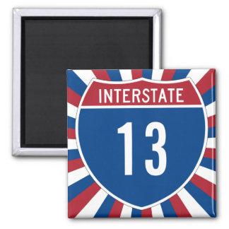 13 de um estado a outro ímã quadrado