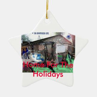 13 ruas do notcho, casa para os feriados ornamento de cerâmica estrela