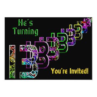 13o aniversário - convite adolescente - colorido