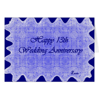 13o Aniversário de casamento Cartão Comemorativo