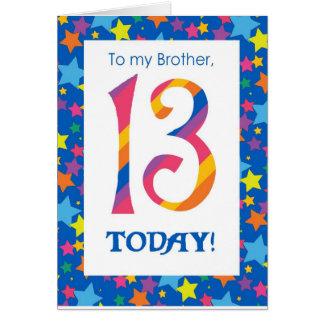 13o Cartão de aniversário para o irmão, as listras