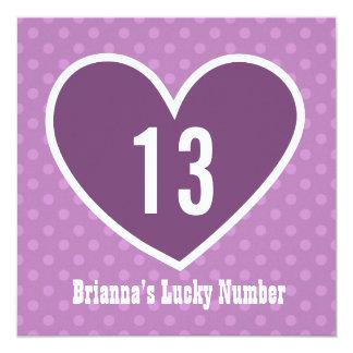 13o Coração afortunado grande V05A da festa de Convites Personalizado
