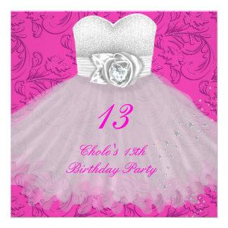 13o Meninas de festa de aniversário 13 adolescente Convite