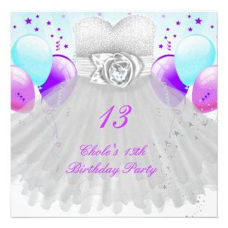 13o Meninas de festa de aniversário 13 adolescente Convites Personalizado
