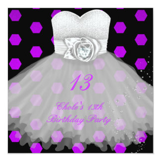 13o Meninas de festa de aniversário 13 Convite