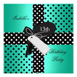 13o Meninas do adolescente da festa de aniversário Convites Personalizados