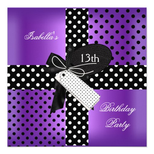 13o Meninas do adolescente da festa de aniversário Convite Personalizados