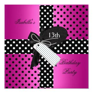 13o Meninas do adolescente da festa de aniversário Convite Quadrado 13.35 X 13.35cm
