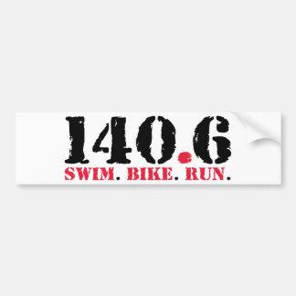 140,6 Funcionamento da bicicleta da natação Adesivos