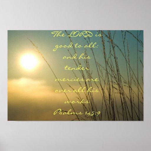 145:9 dos salmos poster