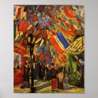14 de julho celebração em belas artes de Paris Van Pôster