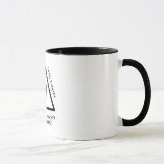 14o Caneca do café da divisa do grau