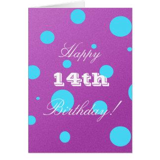 14o cartão de aniversário feliz para a menina
